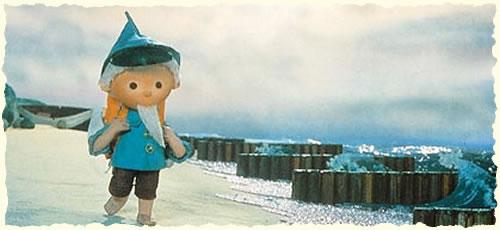 Sandmännchen am Strand | Postkarte